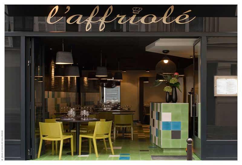 Restaurant l affriol fr d rique gormand architecture for Miroir restaurant paris menu